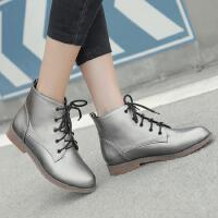 韩版小女孩儿童黑色马丁靴大童靴子秋冬女童短靴单靴学生皮靴