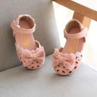 夏季小童凉鞋女童公主半凉鞋蝴蝶结公主鞋1-3岁宝宝