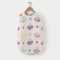 婴童宝宝睡袋四季通用 男女童卡通图案盖被儿童背心防踢被夏 白色小蘑菇 73cm(小码建议身高6-12个月)