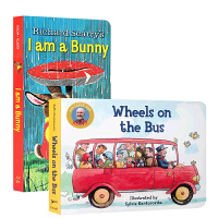 【全店300减80】英文原版进口绘本 I am a bunny 我是一只兔子 送音频 Wheels on the Bus