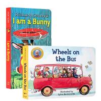 英文原版进口绘本 I am a bunny 我是一只兔子 送音频 Wheels on the Bus 车轮滚滚/公交车
