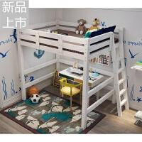 高架床��木高低床床上下床�p人床��木床1.5米定制