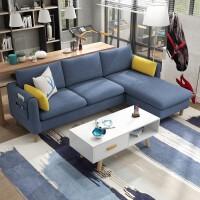 北欧沙发小户型客厅三人整装转角组合出租房用公寓经济型布艺沙发