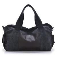 时尚男包休闲包旅行包男士包包帆布包手提包大包单肩斜挎包水桶包