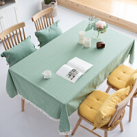 桌布布艺棉麻小清新防水防烫茶几垫圆桌餐桌布台布