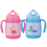 小猪佩奇316儿童不锈钢保温杯 防摔 带吸管幼儿园水杯宝宝吸管杯
