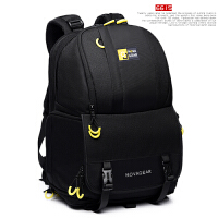 佳能60D70D6D5D3 大容量单反相机包尼康户外摄影包双肩背包 黑色