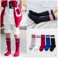 儿童袜子纯棉秋小孩童袜男童女童中高长筒透气足球袜冬款1-3-8岁