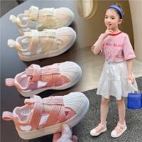 女童板鞋夏季儿童镂空休闲小白鞋男童贝壳头童鞋