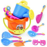 跨境热销沙滩玩具9件套装创意沙滩桶太阳墨镜宝宝戏水玩具儿童