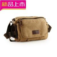 帆布包 韩版男士休闲单肩包 斜跨包小背包挂包户外小包运动挎包