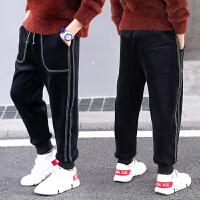 洋气长裤儿童加绒裤子男童冬季男孩秋冬金丝绒休闲裤