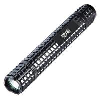 强光手电筒远射充电防身武器棍户外车载巡逻LED战术手电 F62一电一充