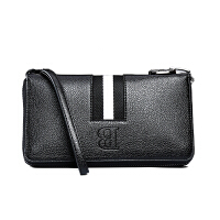 男士手包大容量钱包皮手拿包软皮多卡位长款拉链手机包
