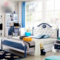 欧式儿童床男孩 实木1.5男/女孩单人床1.2儿童家具套房组合