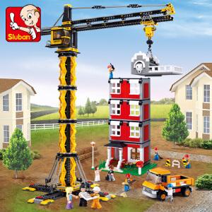 【当当自营】小鲁班工程系列儿童益智拼装积木玩具 塔式起重机M38-B0555