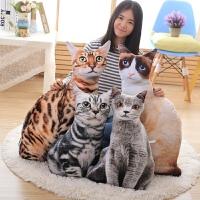 小花猫公仔布娃娃创意礼物仿真3D印花猫咪抱枕毛绒玩具