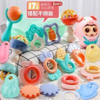 婴儿玩具手摇铃牙胶益智0-1岁半手抓握训练8新生儿3-6-12个月宝宝