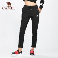 camel骆驼新款运动裤时尚潮搭字母街头风休闲长裤修身简约