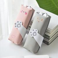 创意笔袋女简约大容量可爱猫咪少女心铅笔袋日系小清新初中生文具袋