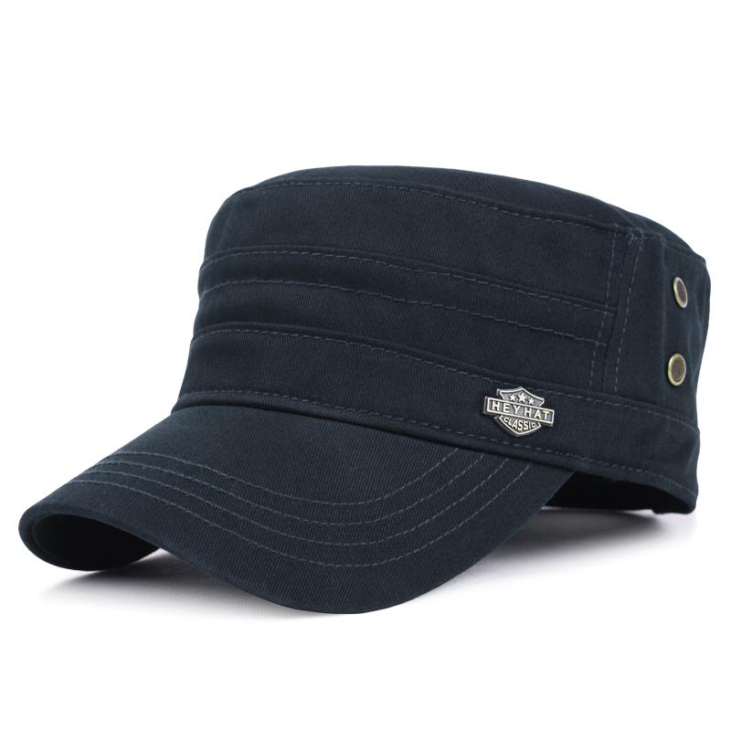 帽子男士秋冬季新款休闲平顶帽户外保暖帽全棉鸭舌帽 品质保证 售后无忧 支持礼品卡付款