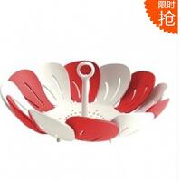红兔子(HONGTUZI) 可伸缩水果盘果盆雀尼尔塑料干果盘零食盒沥水架 零食沥水架