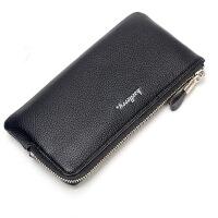 钱包男士长款拉链手拿包软皮大容量青年手包钱夹个性手机包潮