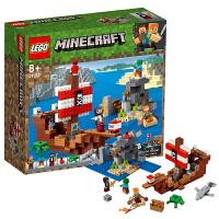 【当当自营】乐高LEGO 我的世界系列 21152 海盗船大冒险
