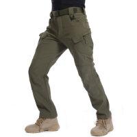 户外软壳冲锋裤男士抓绒滑雪长裤加厚保暖防水防风登山裤