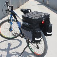 自行车驮包山地自行车后驮包单车骑行装备 三合一货架包托包驼包新品 黑色+送防雨罩