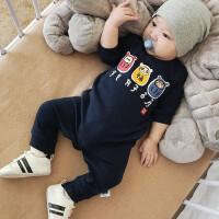 秋装0爬服婴儿哈衣宝宝新款1服装男女3岁外出服12个月新生儿6衣服