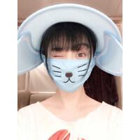 韩版百搭范冰冰同款遮脸防紫外线太阳防晒帽遮阳帽女