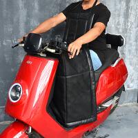 皮革PU皮分体款电动摩托车挡风被小型冬季加厚电瓶三轮车护膝加绒新品