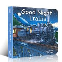 英文原版 Good Night Trains 2-3岁儿童启蒙辨认火车轨道不同的应用场景和区别 玩具车