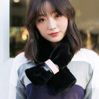 毛绒百搭学生可爱围巾韩版时尚围巾女士加厚加绒围脖
