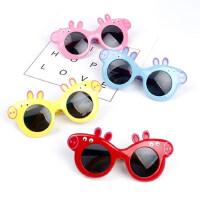 儿童折叠太阳镜遮阳宝宝卡通偏光眼镜萌款男女童墨镜