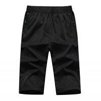 夏季运动短裤男士速干裤七分裤薄5分户外七分裤快干裤薄拉链口袋