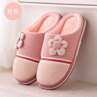 毛毛棉拖鞋包跟女情侣室内保暖防滑可爱居家居月子拖鞋男