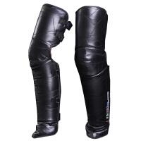 骑摩托车电动车护膝冬季挡风暖骑行护膝护腿护具加长加厚男女新品 黑色(真皮促销) 均码