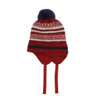 儿童毛线帽宝宝加绒帽子韩版儿童保暖套头帽小孩针织护耳帽