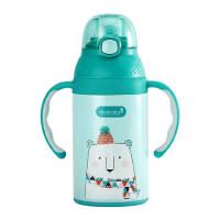美国dexbaby吸管杯保温杯宝宝学饮杯带手柄婴儿水杯儿童 防摔水壶