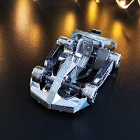 卡丁车3D金属拼装拼图玩具模型手工礼品汽车摆件男朋友礼物创意