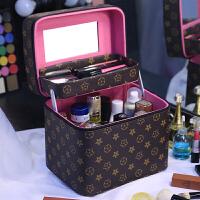 化妆包大容量手提化妆箱小号便携双层护肤品收纳包盒男女通用