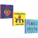 Todd Parr 5册启蒙认识纸板书 托德・帕尔 The I Love You Book 宝宝情商培养 儿童家庭成长