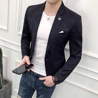西装演出服男青年发型师小西装外套修身韩版夜店西服上衣