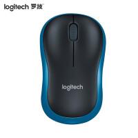 【全国联保】罗技(Logitech)M186 无线鼠标 黑色蓝边