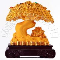 2016新款沙金发财树招财树摆件开业礼品摇钱树装饰品
