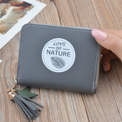 零钱包女士短款拉链硬币包可爱时尚学生小清新韩版2018新款多功能