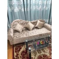 简约欧式布艺沙发卧室双人服装店铺小沙发单三人小户型迷你贵妃椅