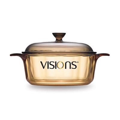 康宁晶彩透明锅1.25L煮汤锅奶锅 琥珀色玻璃锅VS-1.25明火直烧炖玻璃锅